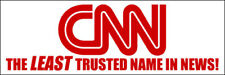 3x9 inch CNN The LEAST Trusted Name In News Bumper Sticker  - pro trump anti msn