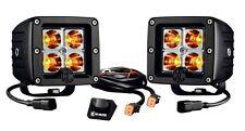 """KC Hilites 315 3"""" 12 watt C3 Amber LED Spot Light w/ Wiring Harness (Pair)"""