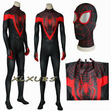 Spider-Man:Into the Spider-Verse Costume Jumpsuit Mask Cosplay Zentai Halloween