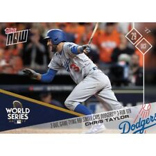 2017 TOPPS NOW #850 2-OUT, GAME-TYING RBI SINGLE CAPS 3-RUN 9TH - CHRIS TAYLOR