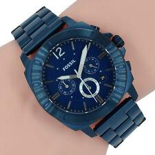 Fossil Herren Uhr XL Chronograph BQ2319 Privateer Sport Blau Edelstahl
