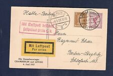 26 Germany 1928 CHAMBERLIN Postcard Air Mail  Halle Berlin