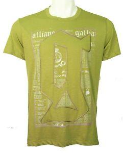 Galliano newsprint and top stich decor tee pistachio