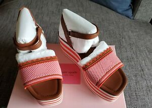 kate spade new york Highrise Spade Wedge Sandals Size 8.5