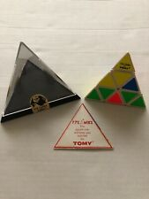 Vintage TOMY PYRAMINX Puzzle Toy 1981 Made Hong Kong Complete Box & Instructions
