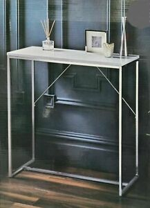 High Gloss Console Table Stainless Steel Frame & High Gloss Shelf Furniture