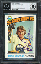 Brian Spencer Autographed Signed 1976-77 Topps Card #191 Sabres Beckett 12233564