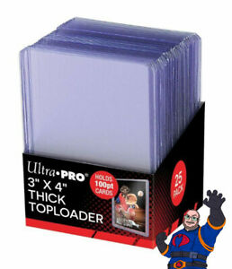 Ultra Pro 3x4 Thick 100 Point Toploader 25ct 100PT ** FREE SHIPPING **