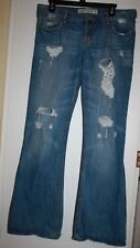 Hollister Jeans Destructed Womens 9 R Flare Low Rise