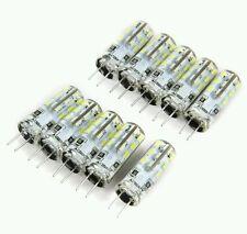 10 lampadine LED attacco G4 1.5W SMD 3014 AC/DC12V SUPER LUMINOSE da faretti