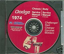 1974 DODGE CHALLENGER /CHARGER SHOP/BODY  MANUAL ON CD