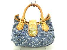 Authentic LOUIS VUITTON Monogram Denim Pleaty M95020 Blue Handbag VI0046