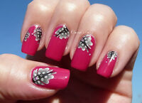 Black Feathers Water Transfers Nail Art Stickers Decals Tips Decoration