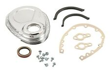 Chrome Timing Chain Cover Kit Small Block Chevy SBC 305 350 400 70-95 MR GASKET