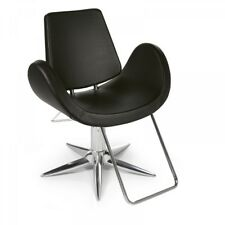 Alipes Black Modern Salon Styling Chair by Gamma & Bross - Made in Italy