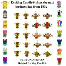 Amazing Lotus Flower Musical Birthday Candle - 18 DIFFERENT COLORS & STYLES