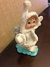 Dreamsicles 1998 Northern Lights Bunny Slope Figurine Winter Scene Vintage