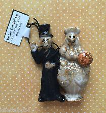BONEY BUNCH YANKEE CANDLE WEDDING COUPLE HALLOWEEN ORNAMENT LIMITED RARE NWT
