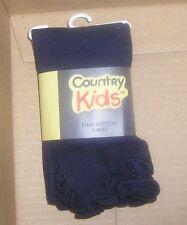 NEW Country Kids Ruffle Socks 2-6X Navy Blue Pima Capri 1-3 years old NEW NWT