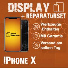 Display echte OLED (kein TFT) iPhone X Schwarz 10 Glas LCD Ersatz Screen Apple