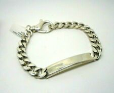 925 Sterling Silver Hallmarked Solid Heavy Gents ID Curb Bracelet 8.5mm 49.5g 9""