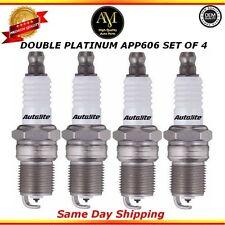Double Platinum Spark Plugs APP606 Set of 4 For 04/14 Buick Chevrolet GMC 3.1L