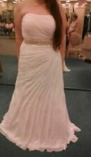 18W Crinkle Chiffon Gown with Asymmetrical Draping