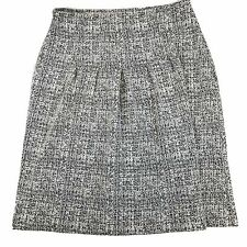 Andria Lieu Collection Skirt Size Medium Charcoal Grey White Textured Pleated