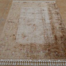 Yilong 5.5'x8' Handmade Silk Carpet Antistatic Easy to Clean Rug 1188