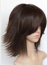 Hot Sell New Fashion Short Brown Straight Women's Lady's Hair Wig Wigs + Wig Cap