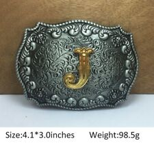 Cool Mens Western Cowboy Texas Rodeo Letter J Heavy Steel Belt Buckle Jewelry
