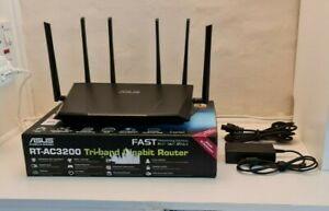 ASUS RT-AC3200 1750 Mbps Tri-band Gaming Gigabit Wireless AC Router 802.11ac