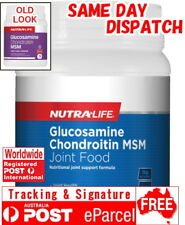 NUTRA LIFE MSM GLUCOSAMINE CHONDROITIN JOINT FOOD POWDER 1KG LIGAMENTS CARTILAGE