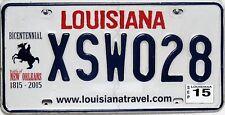 Louisiana  License Plate,  Original Kennzeichen USA  XSW028  ORIGINALBILD