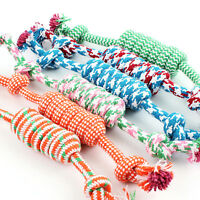 27cm Pet Toys for dogs funny Chew Knot Cotton Bone Ropes Puppy  toy pet HC