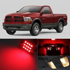 12Pcs Red LED Lights Interior Lamp Bulbs Package Kit For 2009-2017 RAM 1500 MP