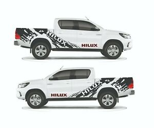 Decal Graphic Side Stripe Kit for Toyota Hilux (Model 1)