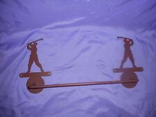 Male / His Swinging Golfer Towel Bar And Towel Ring Bathroom Set Metal