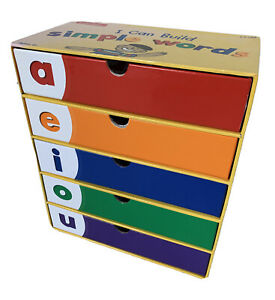 LAKESHORE I Can Build Simple Words Foam Letter Word Building Kit Game