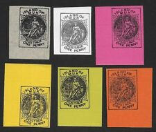 ISLAND OF MUK local or fantasy provisional stamps ex Jim Czyl