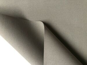 Grey Plain DRALON Outdoor Waterproof Teflon Upholstery Curtain Fabric 320cm Wide