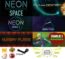 Neon SpaceN+NS 2+Prism+Hungry Flame+Fly and Destroy+Charlie PC Digital STEAM KEY