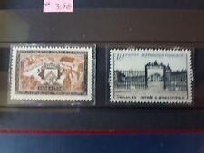 timbres France : place de larépublique et Versailles 1954 Y&T n° 987, 988 **