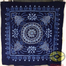 "Handmade Indigo Tie Dye Rural Style Tablecloth Table Cover Tapestry 55"" x 55"""