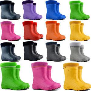 Kids Boys Girls Wellies Wellington Boots Rain EUR 22-35, UK 5-2.5 Lightweight