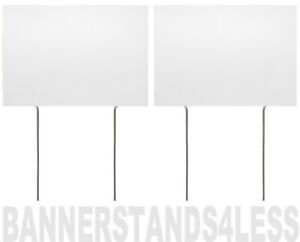 8x12 Inch BLANK WHITE Yard Sign with Stake - 2 PACK
