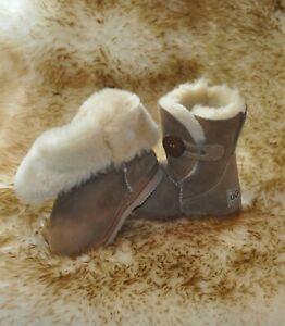 Ugg Boots Australian Hand Crafted Kids Sheepskin Button