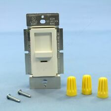 Leviton INI06-1LW White Decora Commercial Slide Dimmer Light Switch 600W 120V