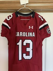 South Carolina Game Cocks Gamecocks Authentic Team Game Issued Jersey sz 46
