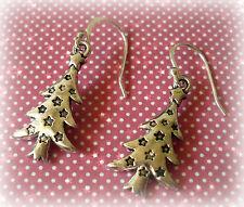Natale Albero Natale Goccia Dangle Earrings - 925 Argento Sterling Orecchio Ganci